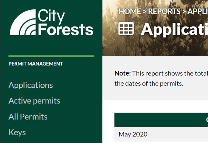 City Forests Permit System