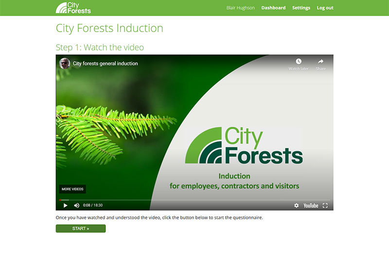 City Forests Health And Safety System